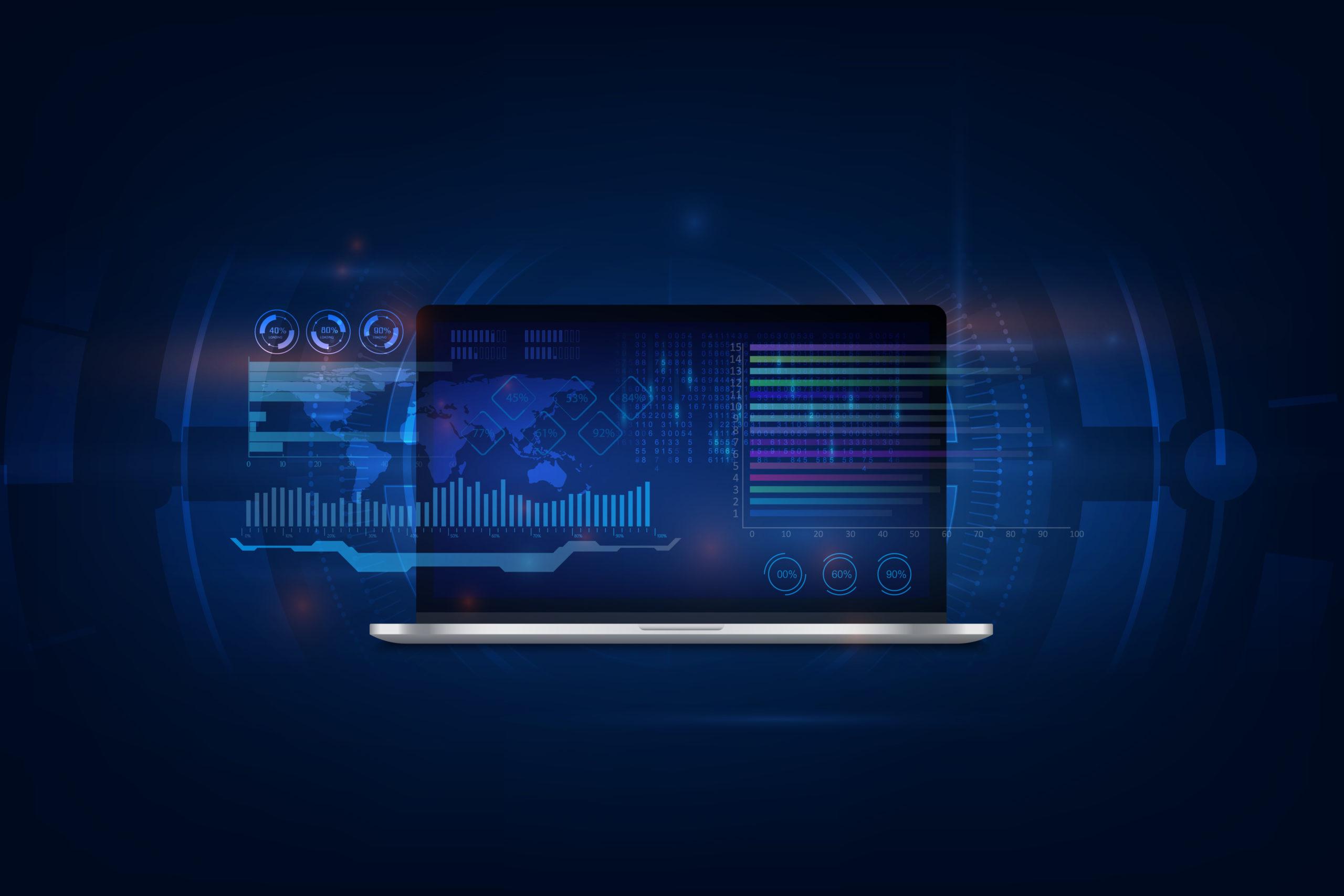 Software, web development, programming concept. Abstract Program