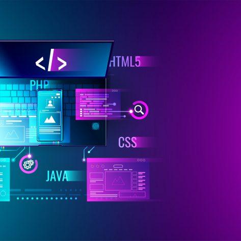 Web development, application design, coding and programming on l