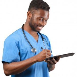 image de profil d'un médecin sur l'application destiné à la médecine